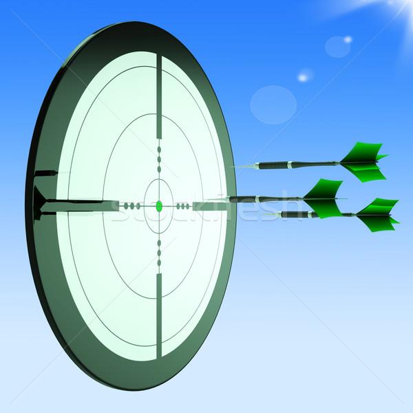 Arrows Aiming Target Shows Perfect Performance Stock photo © stuartmiles