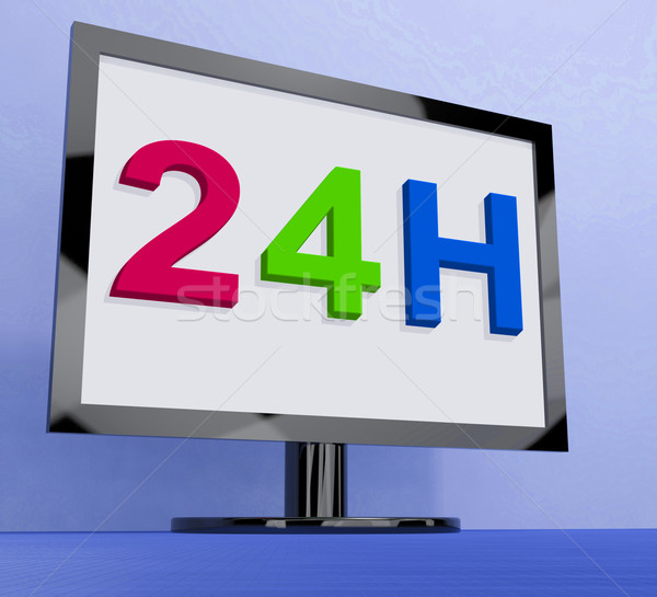 24h On Monitor Shows All Day Service Online Stock photo © stuartmiles