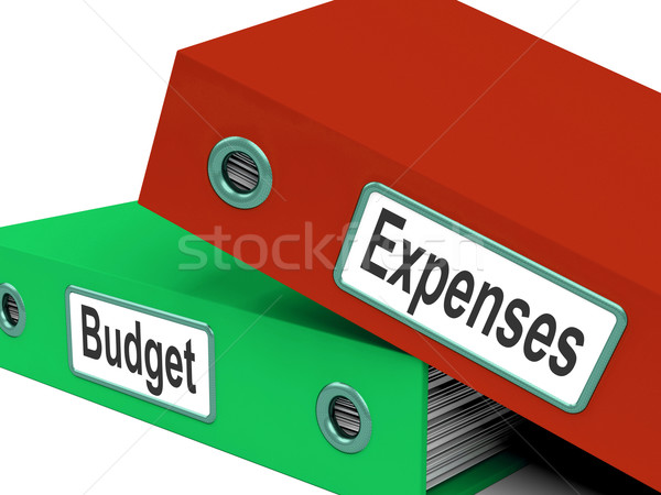 Budget Expenses Folders Mean Business Finances And Budgeting Stock photo © stuartmiles