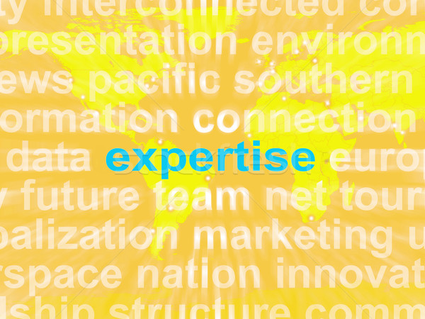 Expertise Word Cloud Shows Skills Proficiency And Capabilities Stock photo © stuartmiles