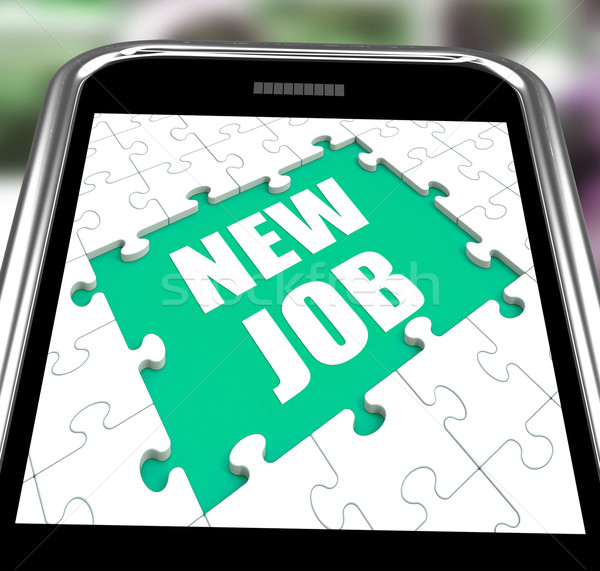 New Job Smartphone Shows Changing Jobs Or Employment Stock photo © stuartmiles