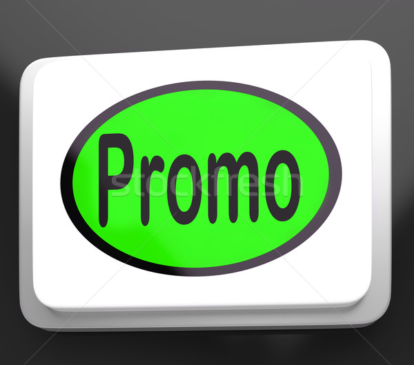 Promo Button Shows Discount Reduction Or Save Stock photo © stuartmiles