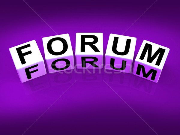Forum Blocks Show Advice or Social Media or Conference Stock photo © stuartmiles