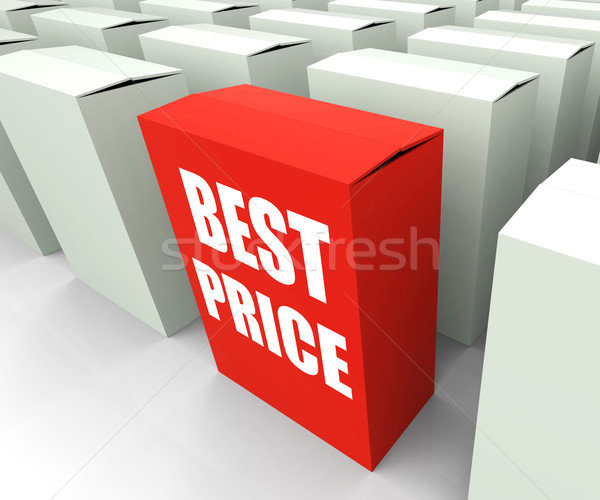 Best Price Box Represents Bargains and Discounts Stock photo © stuartmiles