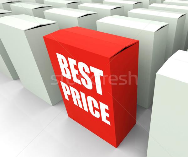 Legjobb ár doboz üzlet promóció árengedmény különleges Stock fotó © stuartmiles