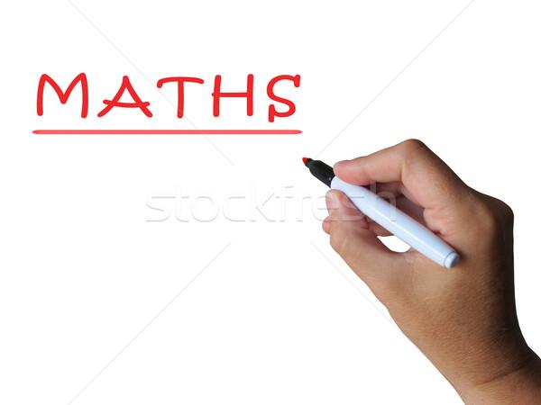 Photo stock: Mathématiques · mathématiques · enseignement · leçon