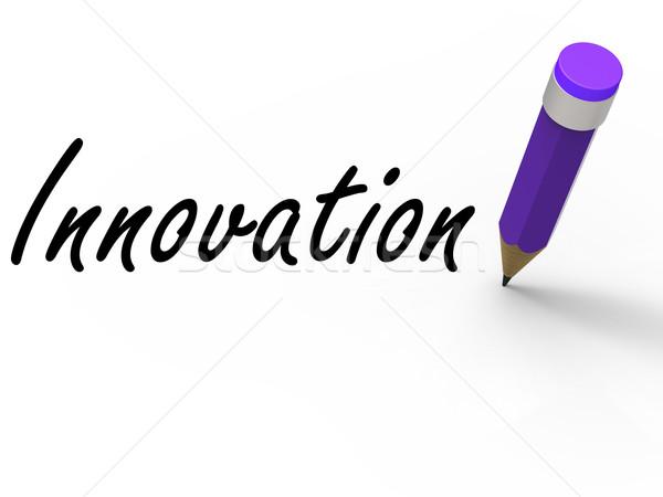 Innovatie potlood show ideeën creativiteit verbeelding Stockfoto © stuartmiles