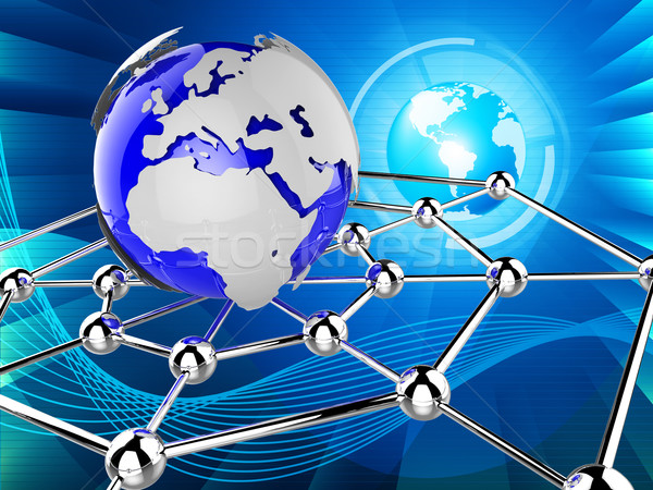 Partout dans le monde réseau ordinateur monde Photo stock © stuartmiles