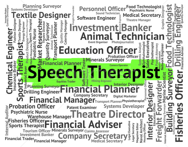 Speech Therapist Represents Occupation Verbal And Doctor Stock photo © stuartmiles