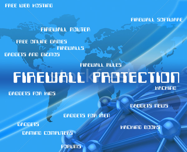 Firewall Protection Represents No Access And Encrypt Stock photo © stuartmiles