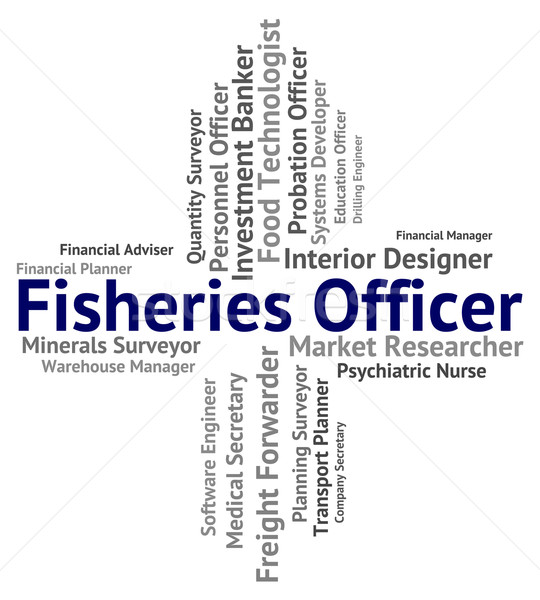Oficial reclutamiento Trabajo peces trabajo pesca Foto stock © stuartmiles