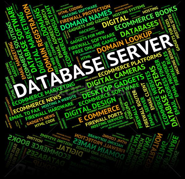 データベース サーバー サーバー コンピュータ 言葉 ストックフォト © stuartmiles