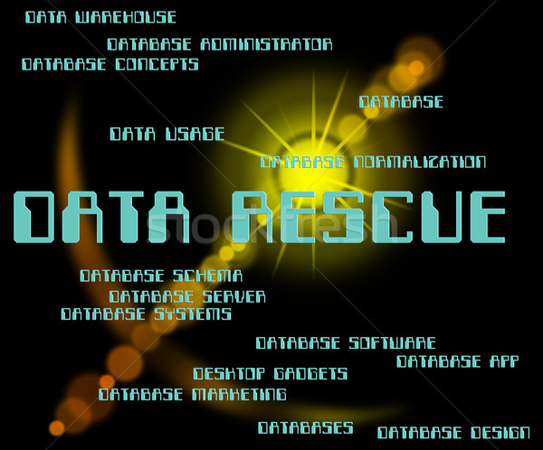 Data Rescue Means Set Free And Bytes Stock photo © stuartmiles