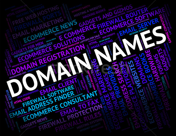 Domain Names Means Dominion Words And Moniker Stock photo © stuartmiles