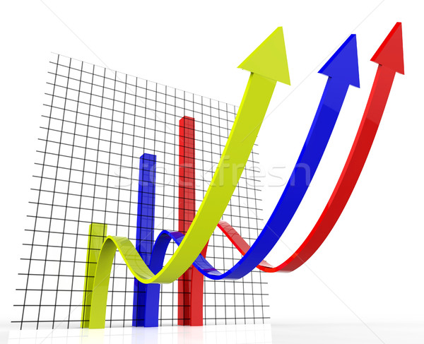 Increasing Graph Indicates Growing Upward And Forecast Stock photo © stuartmiles