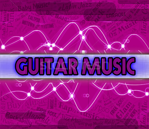 Guitar Music Shows Sound Track And Audio Stock photo © stuartmiles