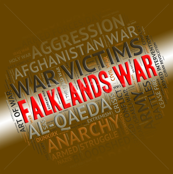 Falklands War Means Warfare Fight And Fighting Stock photo © stuartmiles