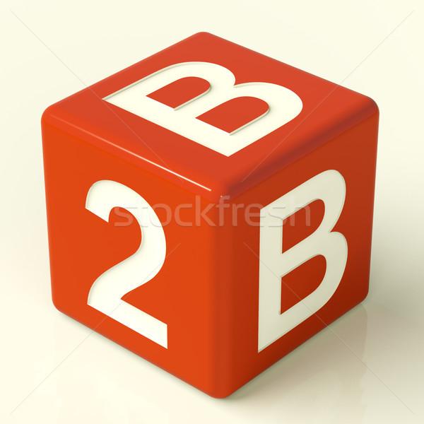 B2b Dice As A Sign Of Business And Partnership Stock photo © stuartmiles