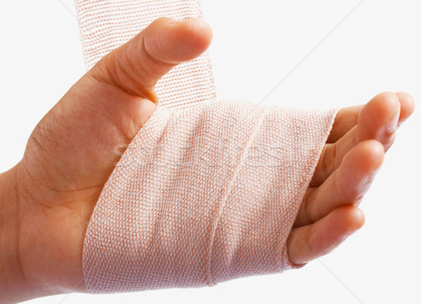 Hand Being Bandaged As Injury Stock photo © stuartmiles