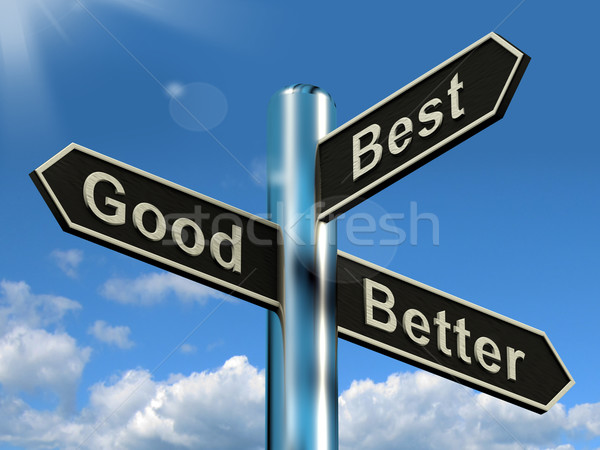 Good Better Best Signpost Representing Ratings And Improvements Stock photo © stuartmiles