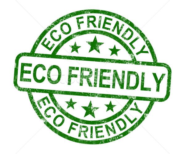Respectueux de l'environnement tampon symbole recyclage nature terre Photo stock © stuartmiles