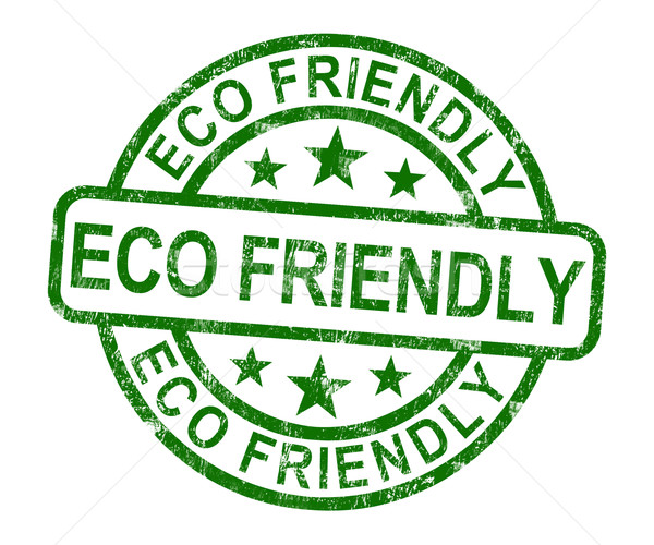 Milieuvriendelijk stempel symbool recycling natuur aarde Stockfoto © stuartmiles
