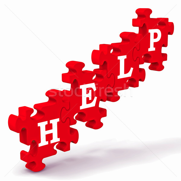 Help Puzzle Shows Support And Advisory Stock photo © stuartmiles