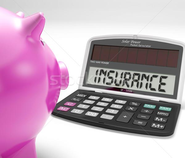 Assurance simulateur protection maison investissement Photo stock © stuartmiles
