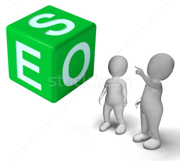 Seo Dice Represents Internet Optimization And Promotion Stock photo © stuartmiles