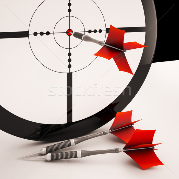 Dart Target Means Focused Successful Aim Stock photo © stuartmiles