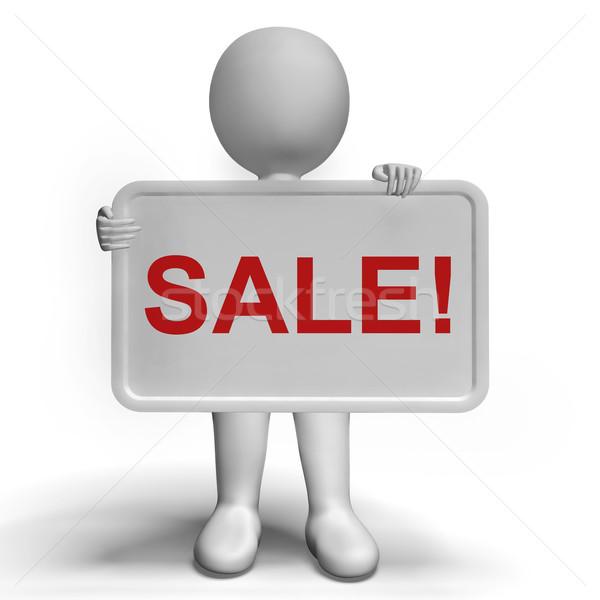Sprzedaży wiadomość pokładzie promocji zniżka redukcja Zdjęcia stock © stuartmiles
