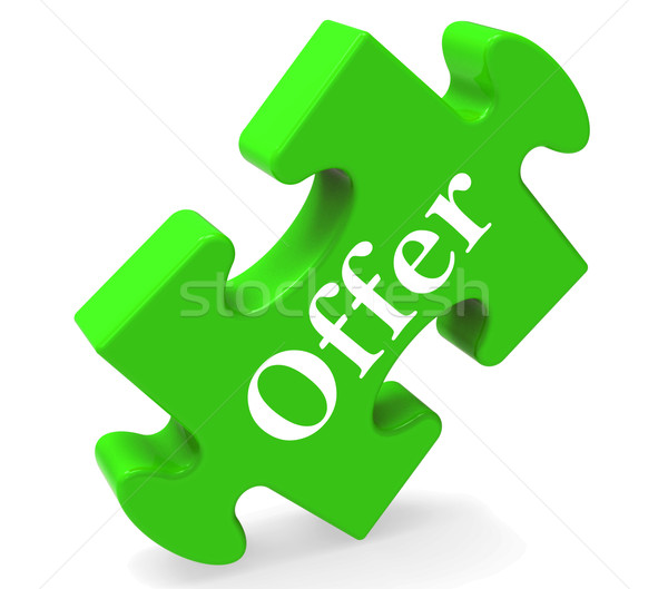 Offer Puzzle Shows Promotion Discounts Offers And Reduction Stock photo © stuartmiles