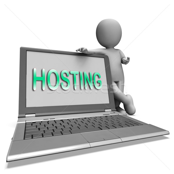 Hosting laptop web internet website gastheer Stockfoto © stuartmiles