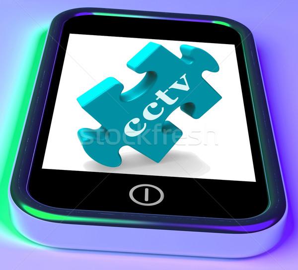 Cctv telefon ellenőrzés mobil védelem online Stock fotó © stuartmiles