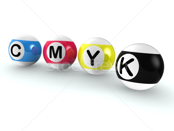 Cmyk Publishing Shows Printing And Printer Ink Stock photo © stuartmiles