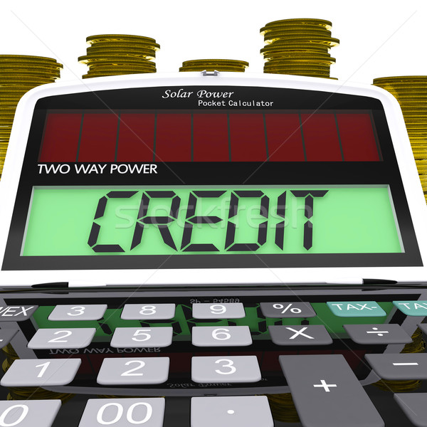Credit Calculator Means Loan Money And Financing Stock photo © stuartmiles
