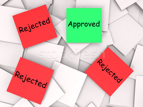 Approved Rejected Post-It Notes Means Approval Or Rejection Stock photo © stuartmiles