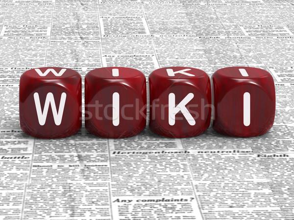 Wiki dados mostrar informação conhecimento respostas Foto stock © stuartmiles