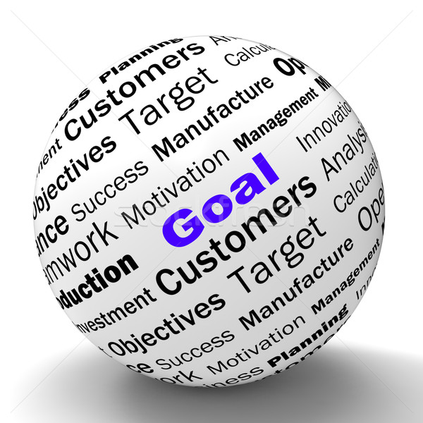 Goal Sphere Definition Shows Future Aims And Aspirations Stock photo © stuartmiles