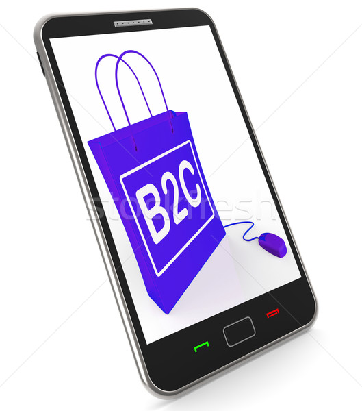 B2C Bag Represents Online Business and Buying Stock photo © stuartmiles
