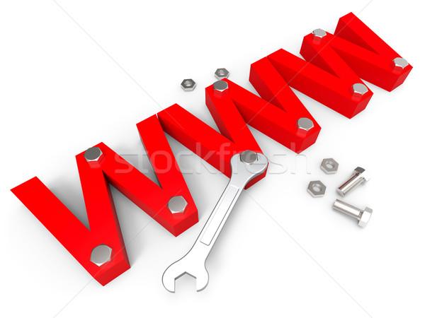 Online szerszámok világháló apparátus mutat weboldal Stock fotó © stuartmiles
