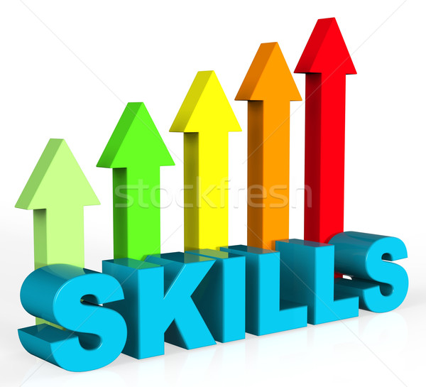 Improve Skills Means Improvement Plan And Abilities Stock photo © stuartmiles