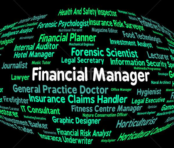 Pénzügyi menedzser alkalmazott nyereség pénzügyek üzlet Stock fotó © stuartmiles