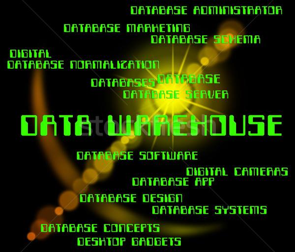 Data Warehouse Indicates Storehouse Depot And Bytes Stock photo © stuartmiles