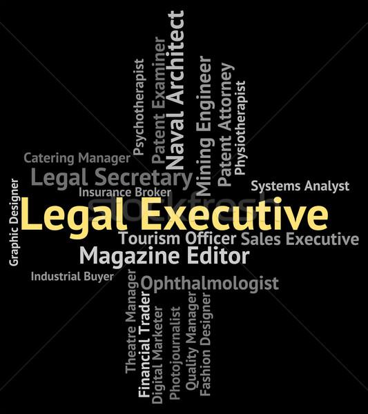 Juridische uitvoerende raad senior beheerder advocaten Stockfoto © stuartmiles