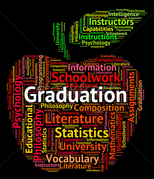 Graduation Word Shows College Achievement And Qualified Stock photo © stuartmiles