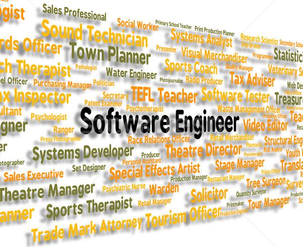 Szoftver mérnök állások programozás jelentés munka Stock fotó © stuartmiles