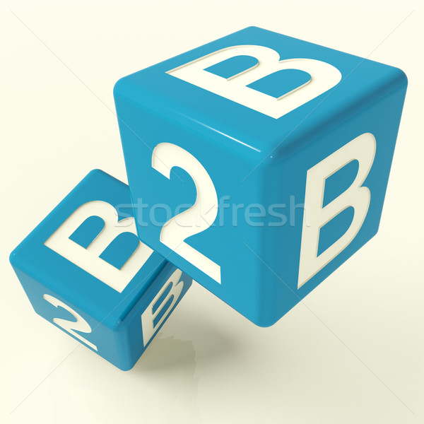 B2b Dice As A Sign Of Business And Commerce Stock photo © stuartmiles