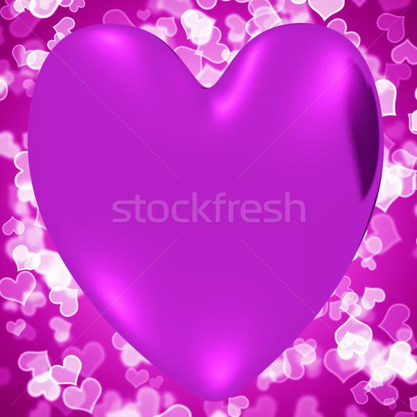 Kalp leylak rengi kalpler seven romantizm Stok fotoğraf © stuartmiles