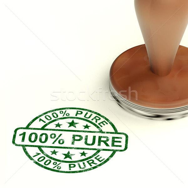 100% Pure Stamp Shows Natural Genuine Products Stock photo © stuartmiles